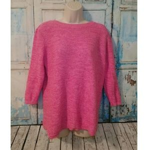 Croft & Barrow EUC hot pink sweater large